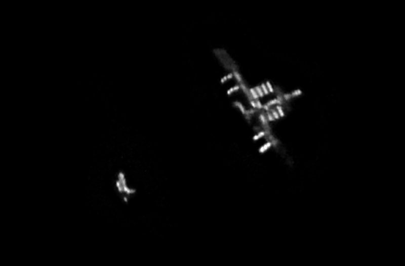Discovery and the International Space Station by Skywatcher Rob Bullen