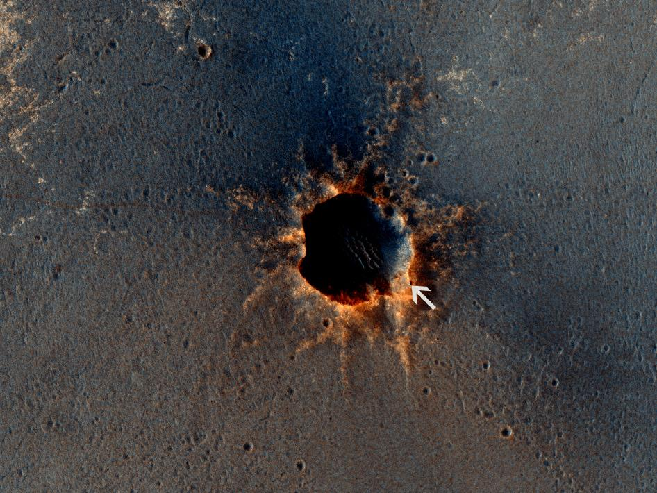 Mars Rover Opportunity Rests by Santa Maria Crater