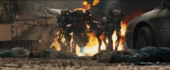 Alien foot soldiers menace humankind in the 2011 film 'Battle: Los Angeles.'