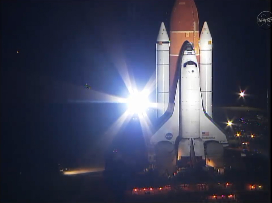 Shuttle Endeavour Moves to Launch Pad for Final Mission