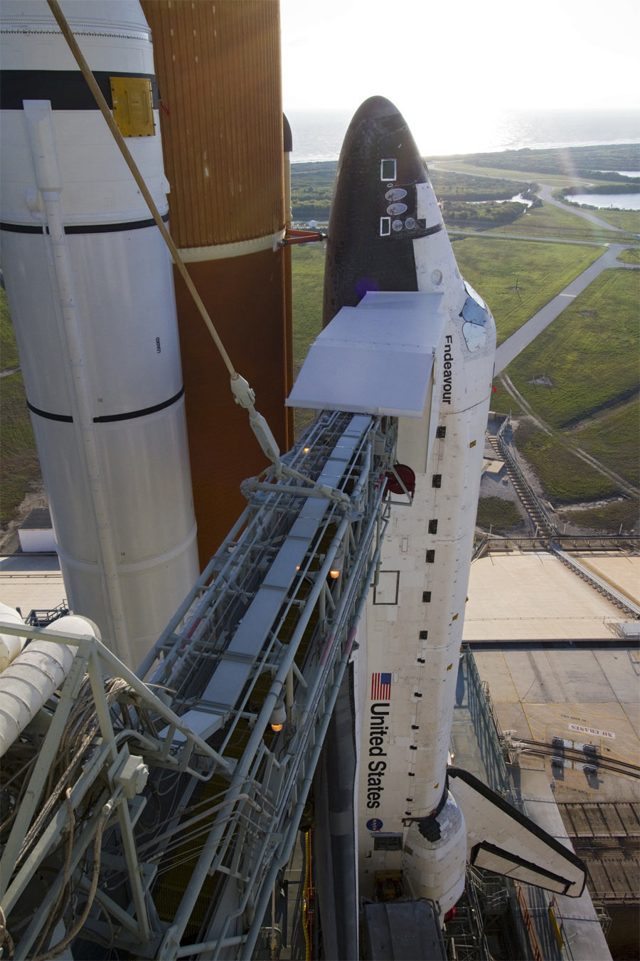 Shuttle Endeavour at Launch Pad 39A