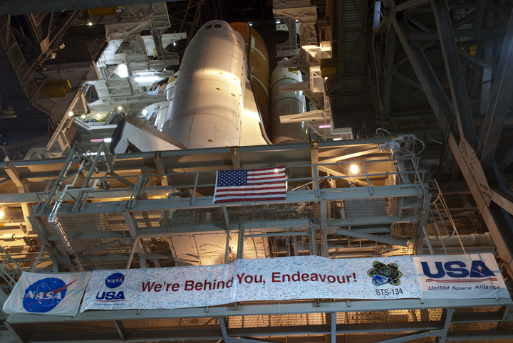 Endeavour Rolls to Launch Pad