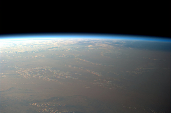 A serene sunset over Saudia Arabia on Jan. 16, 2011 as photographed by astronaut Paolo Nespoli on the International Space Station. The space station sees 16 sunsets and sunrises every day as it orbits Earth once every 90 minutes.