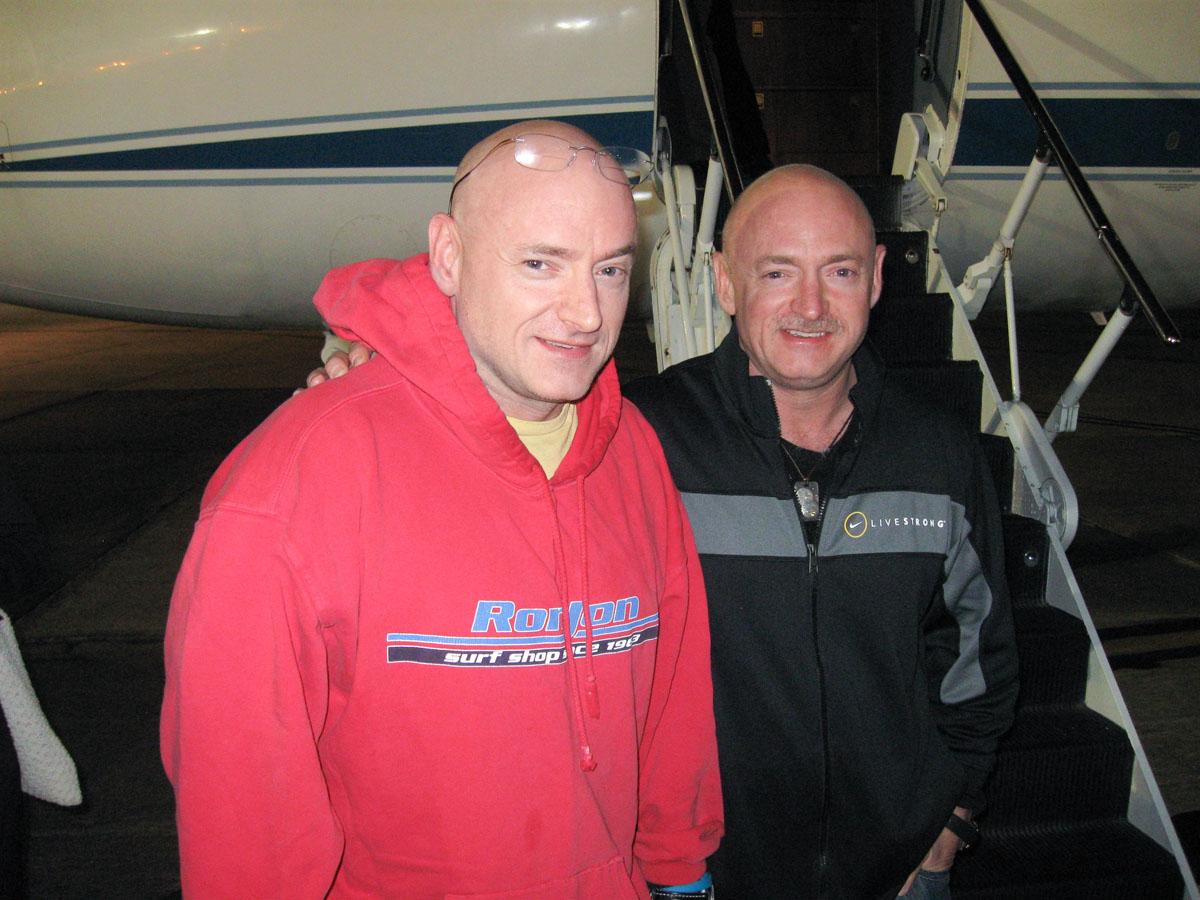 NASA's Identical Twin Astronauts Reunite Between Spaceflights