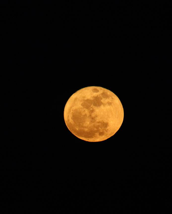 Supermoon Over Grand Rapids