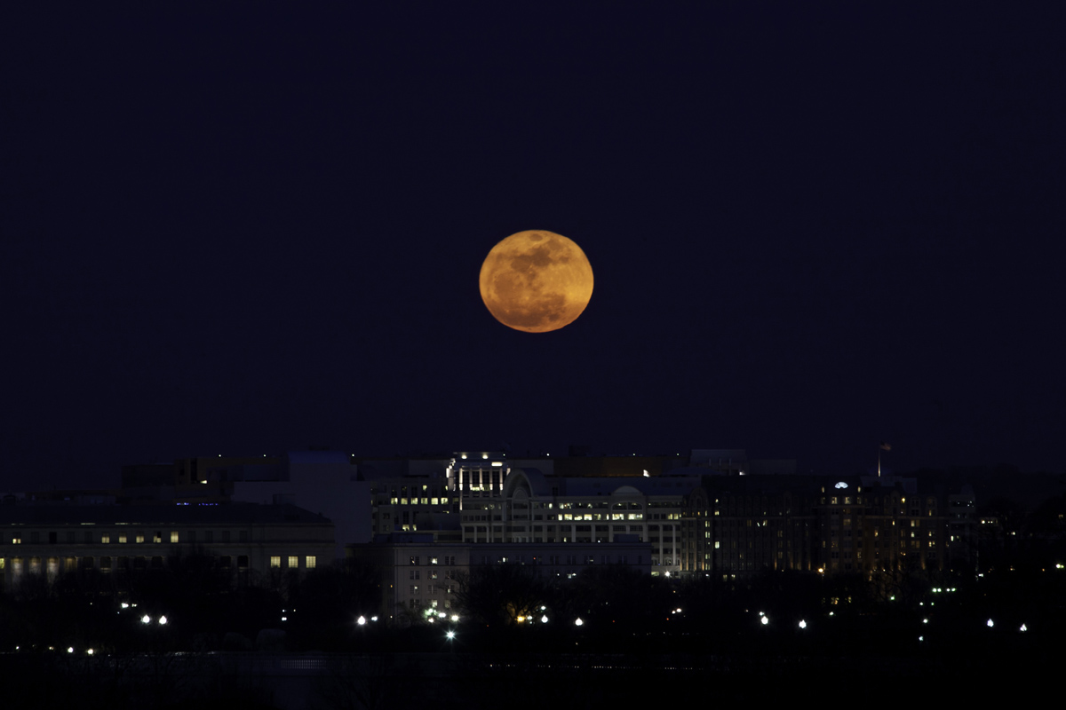 U.S. Capitol Meet the Supermoon