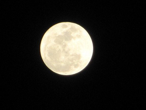 "In Amman, Jordan, skywatcher Ahlam Zayed snapped this photo of the March 19 full moon, the so-called ""supermoon"" of 2011."