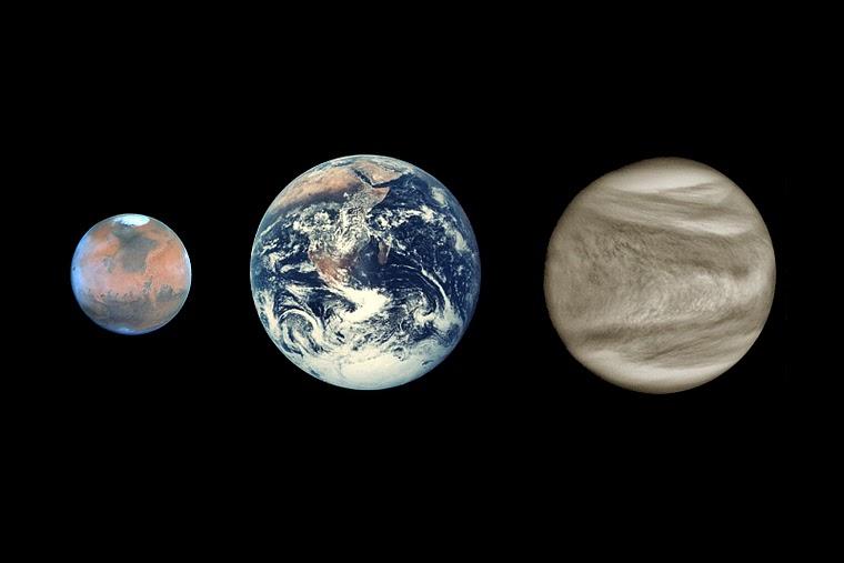 mars and planet venus atmosphere - photo #2