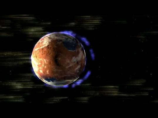 Most of Mars' Atmosphere Is Lost in Space
