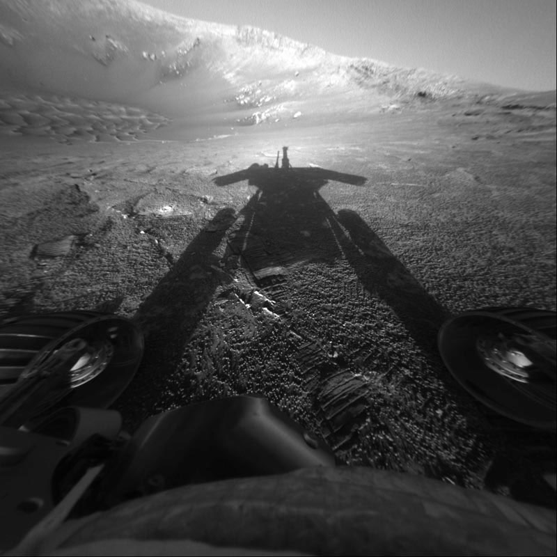 The twin of NASA Spirit rover, the robotic explorer Opportunity is also alive and well more than four years after its Jan. 25, 2004 (ET) landing.<br><br> Opportunity landed on the flat plains of Meridiani Planum, which sits on the side of Mars opposite Gu