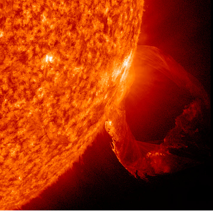 Sun's Twisting Plasma Tentacle