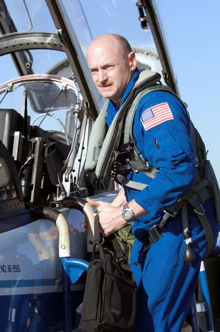Mark Kelly in T-38 Training Jet