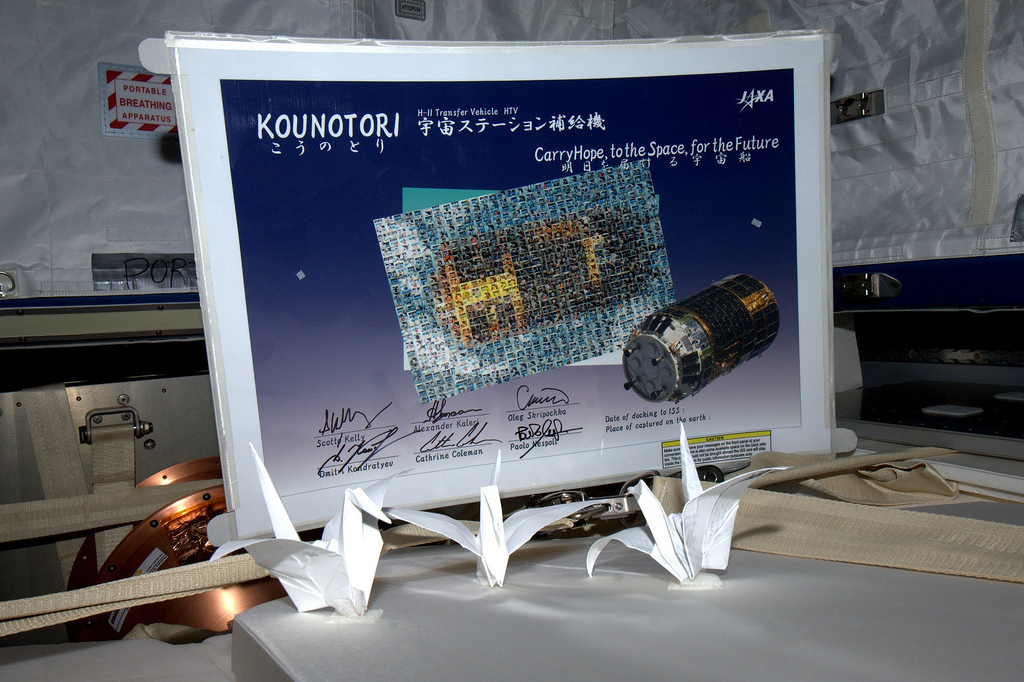 Astronauts Fold 'Extraterrestrial' Origami Cranes for Japan Disaster Victims