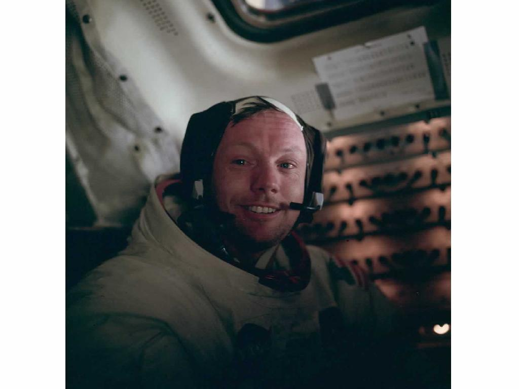 Neil Armstrong in Lunar Module