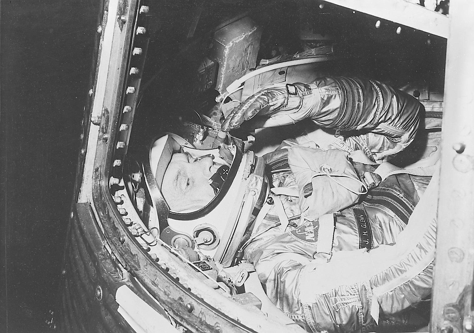 John Glenn, First American in Orbit