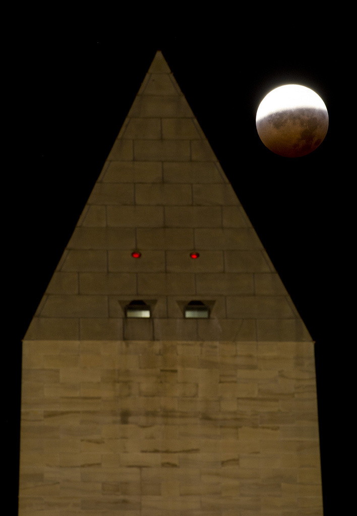 The Washington Monument During the 2010 Total Lunar Eclipse