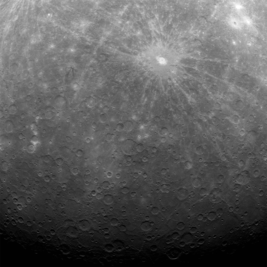 First Photo from Mercury Orbit
