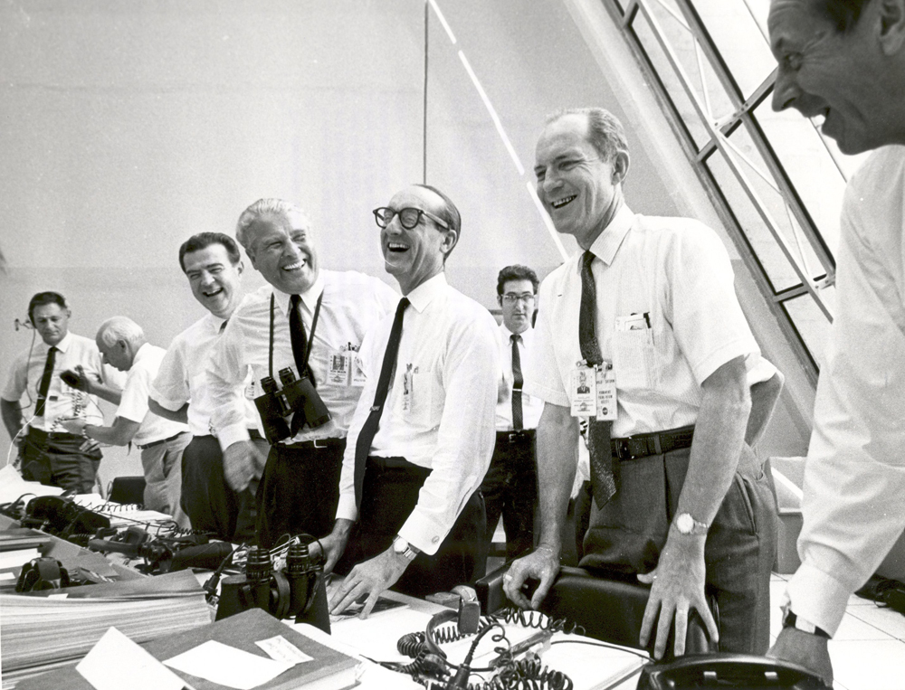 Apollo 11 Mission Officials After Apollo 11 Liftoff