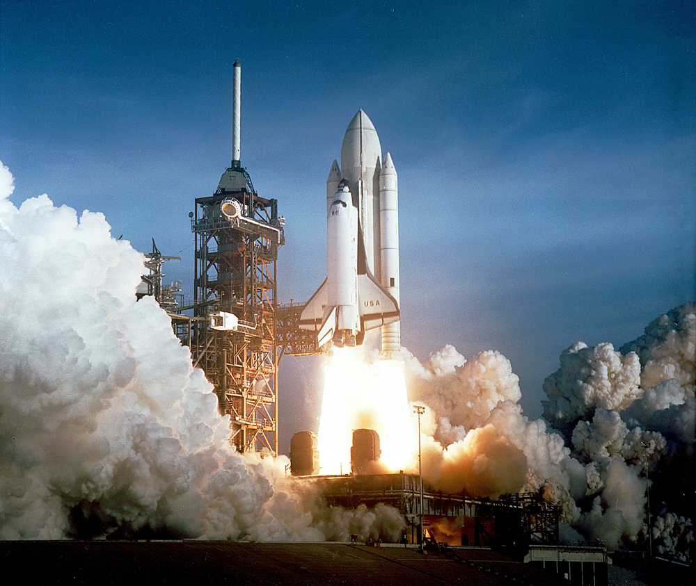 The First Space Shuttle Launch