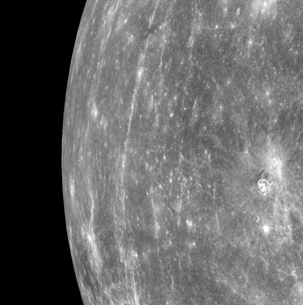Mercury's horizon, as seen from orbit by NASA's Messenger spacecraft