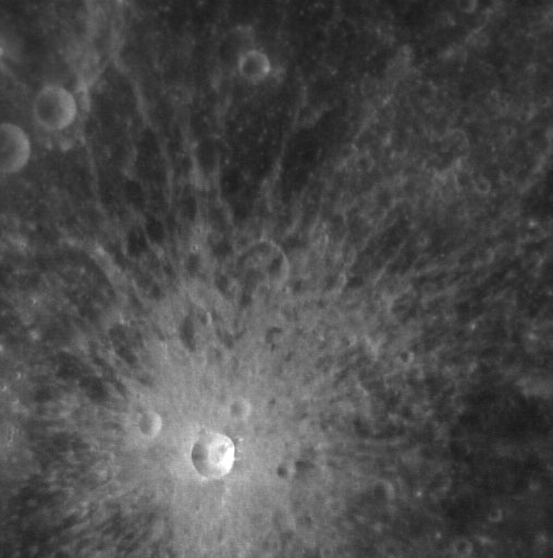 Fresh Crater on Mercury