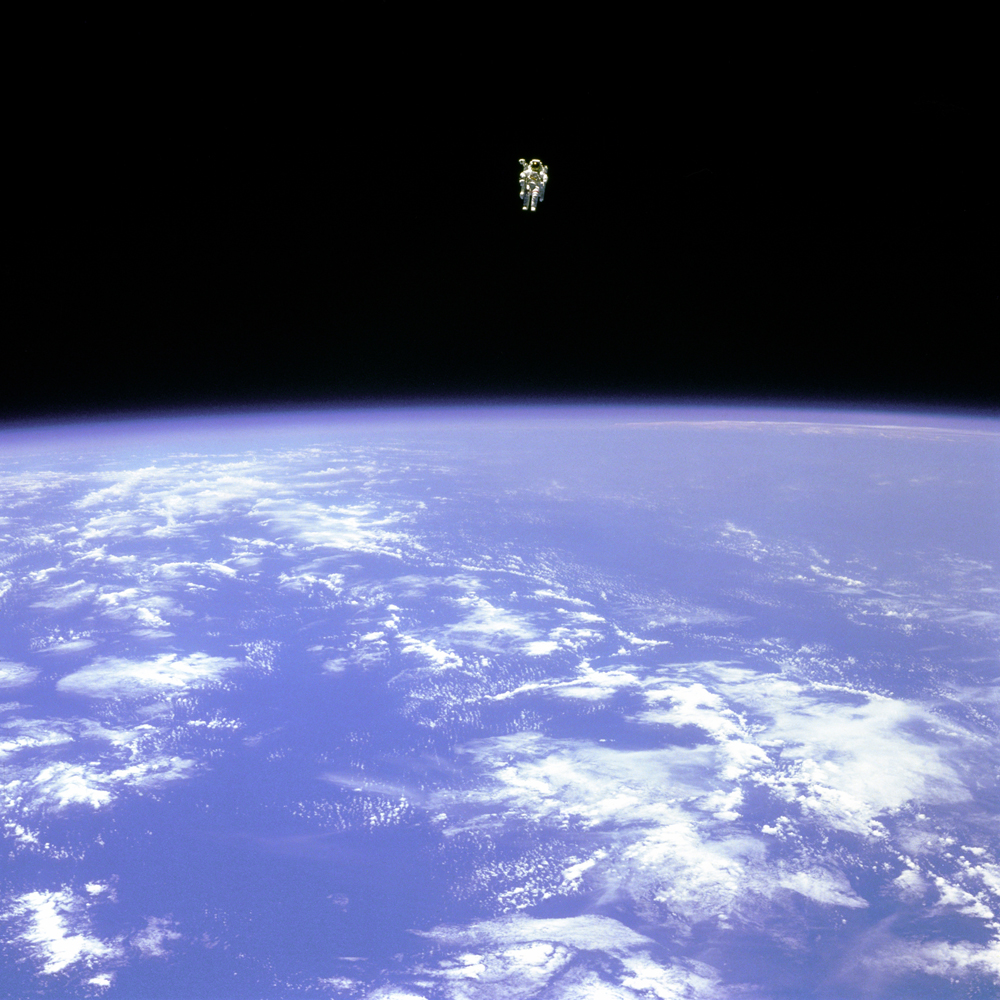 First Untethered Spacewalk: STS-41B (Challenger)