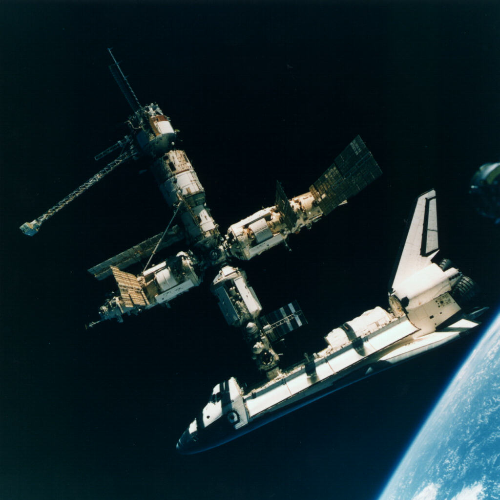 Russia's Space Station Mir and NASA Shuttle