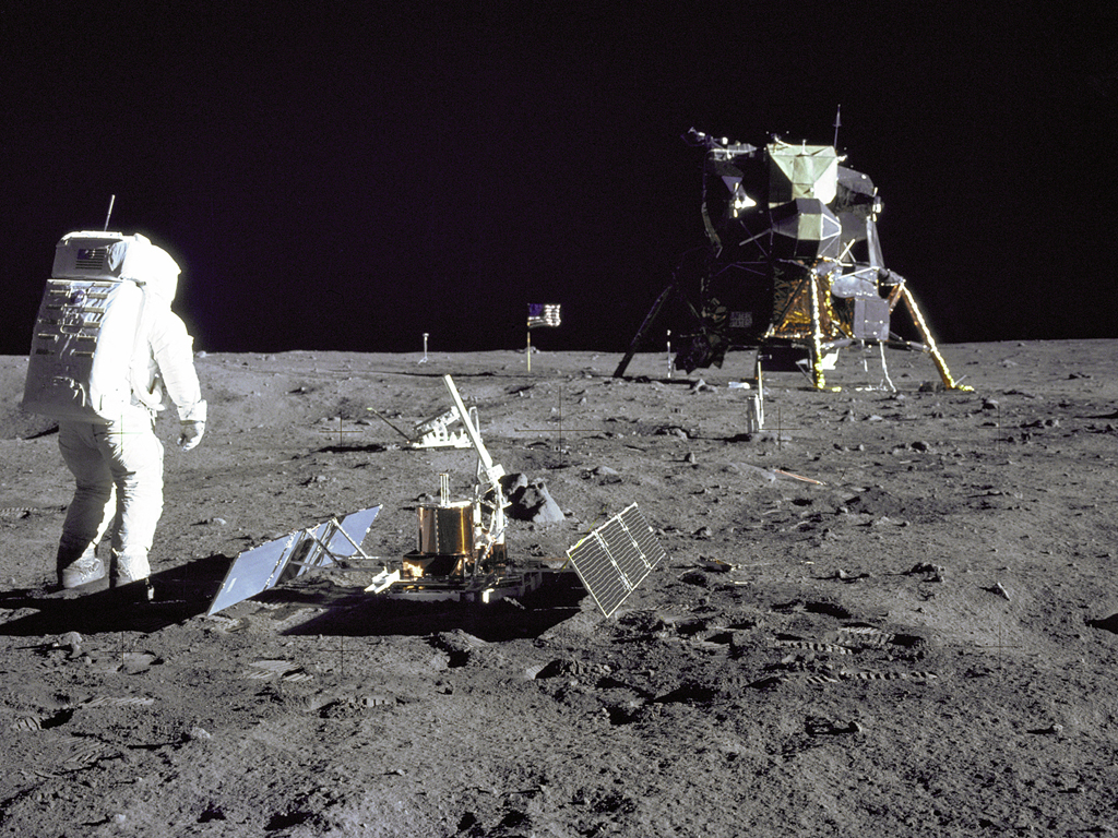 Aldrin Gazes at Tranquility Base