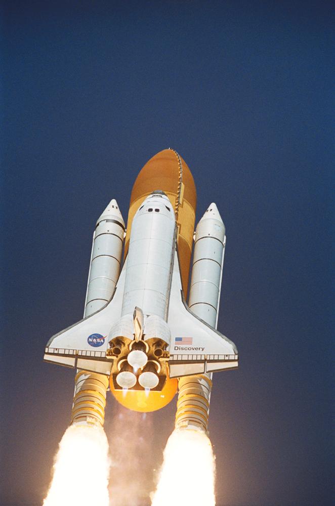発射されたスペースシャトル