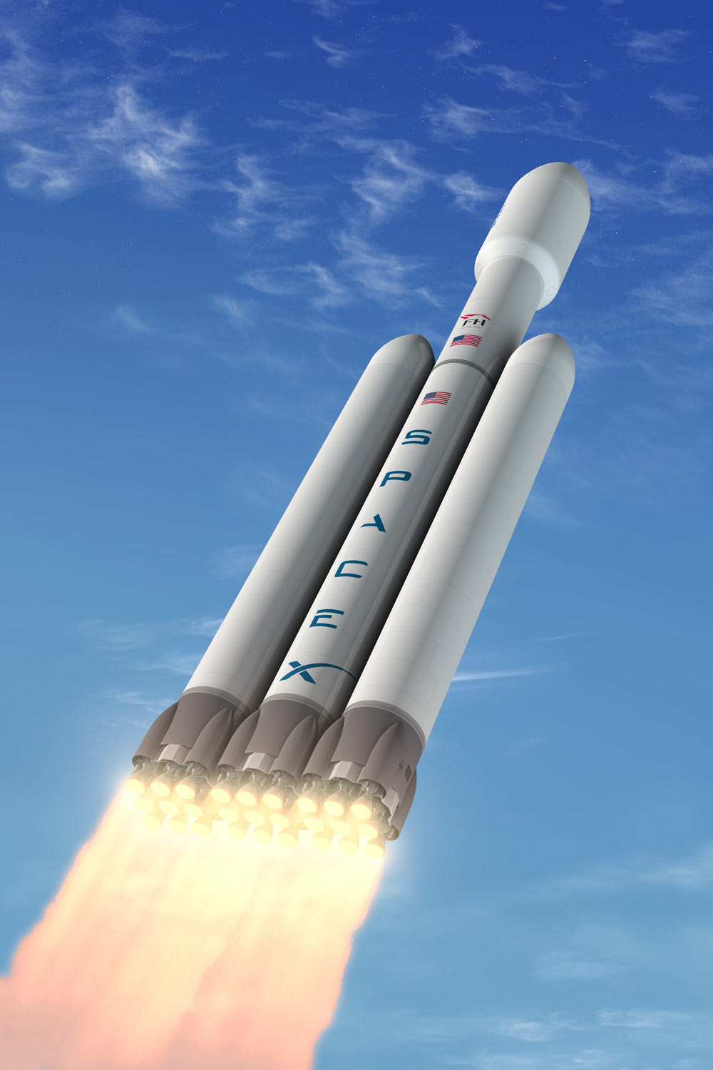 SpaceX Unveils Plan for World's Most Powerful Private Rocket
