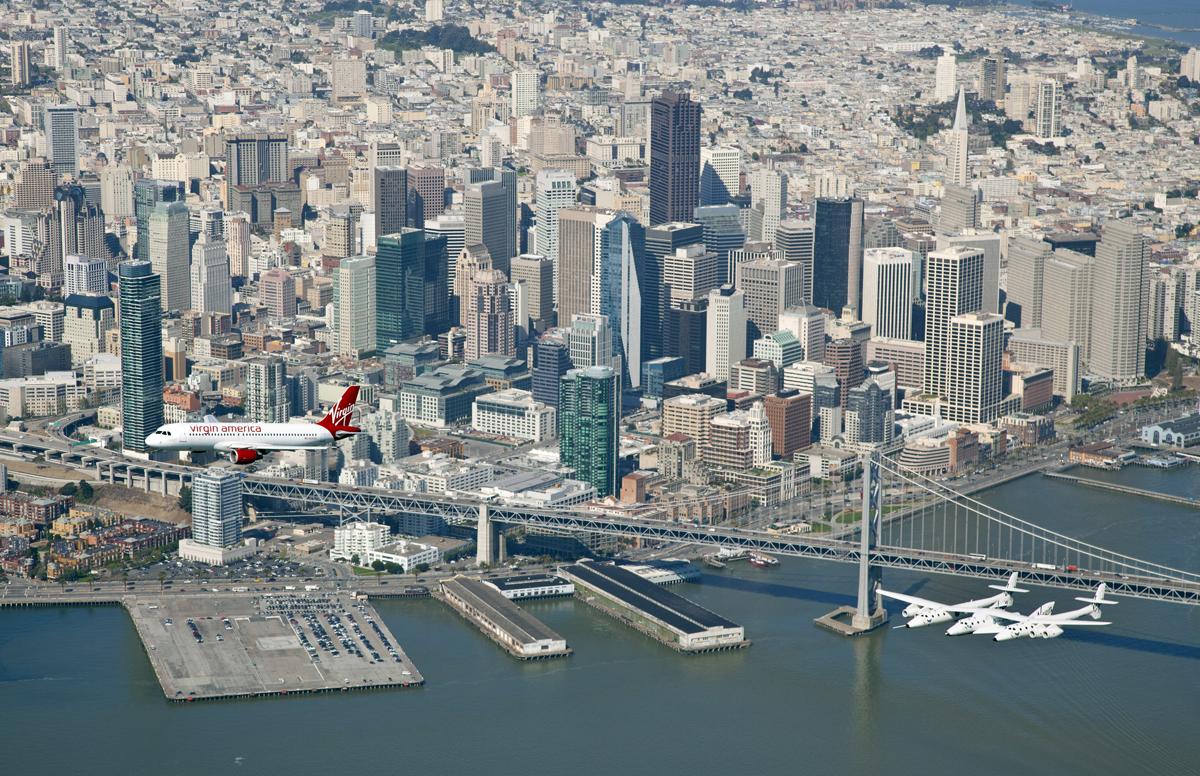 SpaceShipTwo Over San Francisco