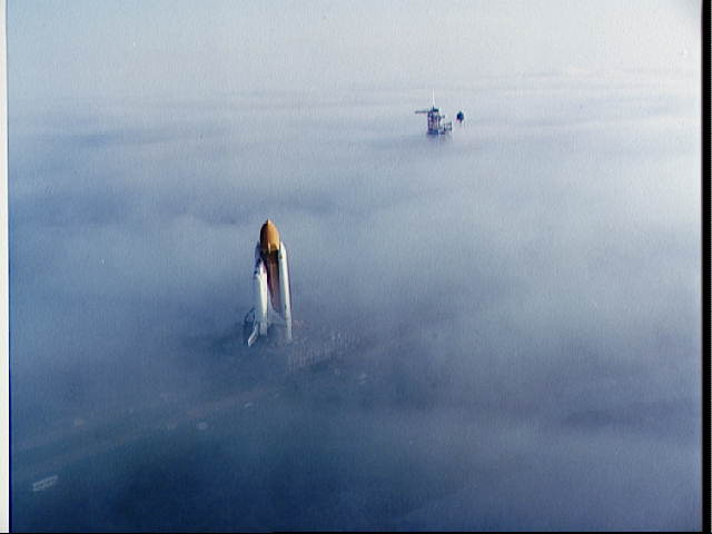 Challenger Winds through the Fog