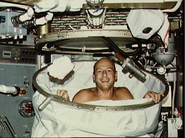 Shower on Skylab 2