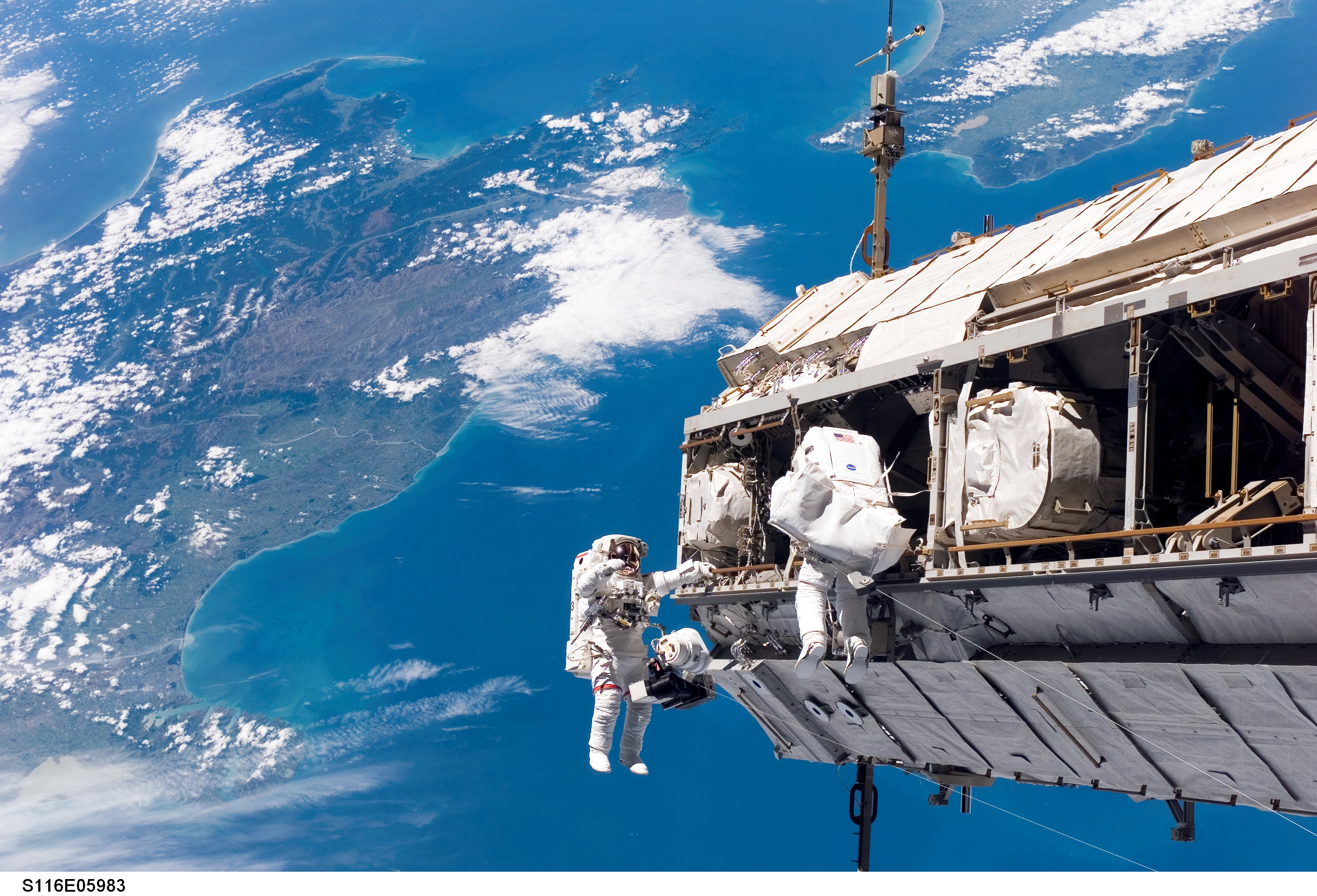 International Space Station Construction Continues over New Zealand