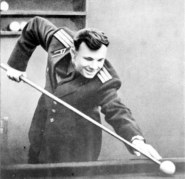 Gagarin as He Was, Playing Pool