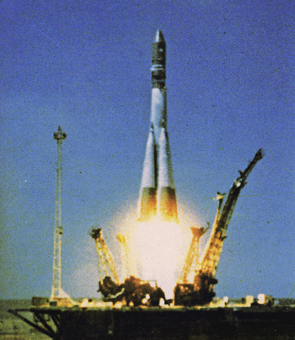 History's First Human Spaceflight Blasts Off
