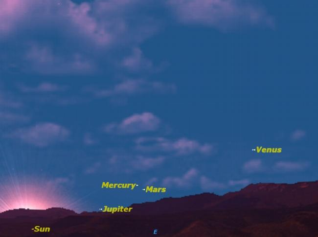 Rare Sight: Mercury to Meet Mars at Dawn on Tuesday