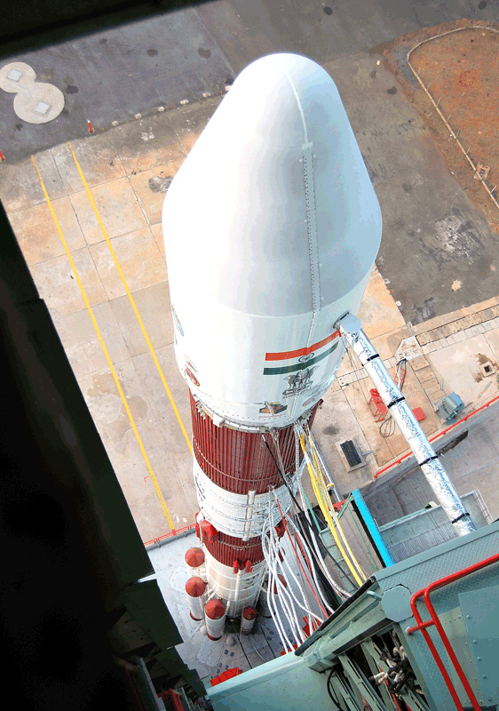 Indian Rocket Reaches Space with Observation Satellite