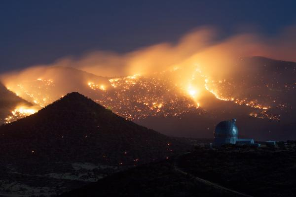 Wildfires Bear Down on McDonald Observatory