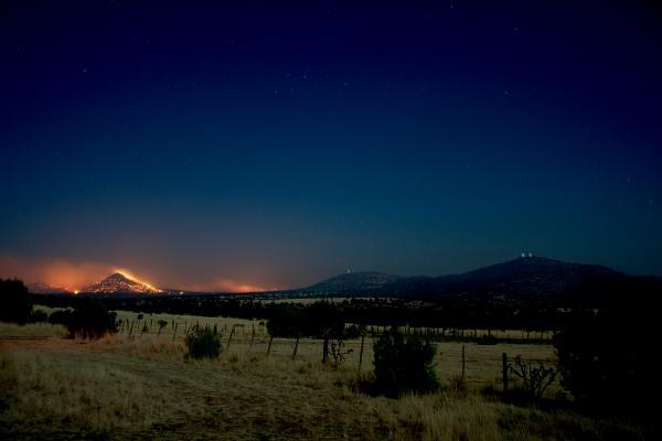 Flames on Guide Peak