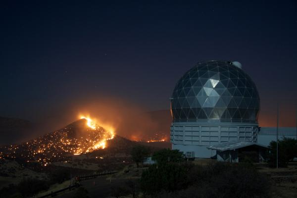 Hobby-Eberly Telescope and the Guide Peak Flames