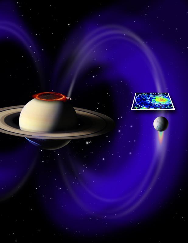 Ultraviolet Light Near Saturn's North Pole