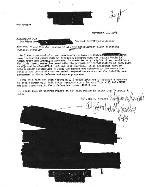 CIA Cover-up Alleged in JFK's 'Secret UFO Inquiry'