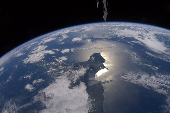 This photo of Earth from the International Space Station was taken by NASA astronaut Ron Garan, who has been blogging about the planet's beauty on his website Fragile Oasis. This image, taken on April 15, 2011, was Garan's first photo sent via Twitter.