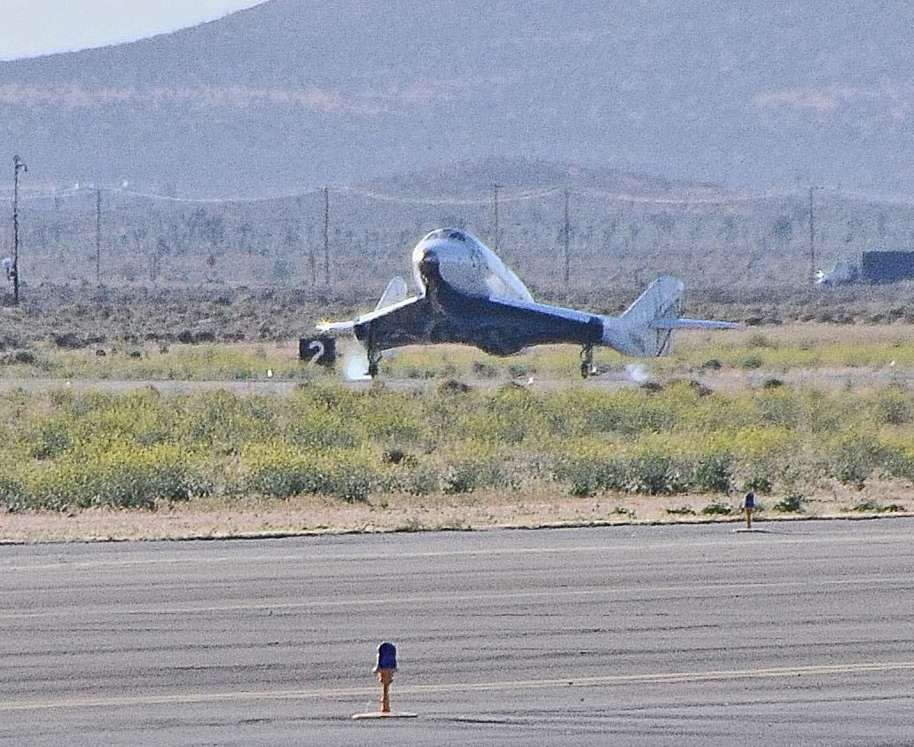 SpaceShipTwo Touches Down