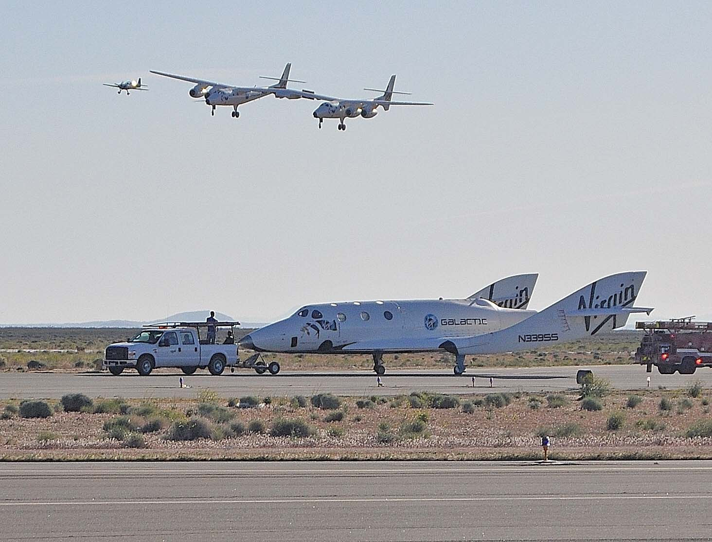SpaceShipTwo After Fifth Glide Flight