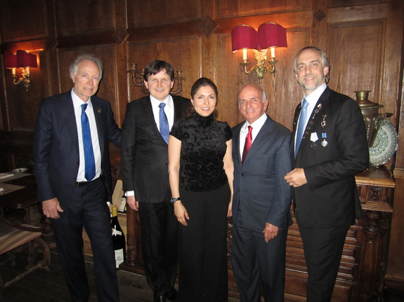 Six of the seven Space Adventures alums met in Moscow recently to celebrate the 50th anniversary of Yuri Gagarin's historic spaceflight of April 12, 1961. Left to right: Greg Olsen, Charles Simonyi, Anousheh Ansari, Dennis Tito and Richard Garriott. (Not pictured: Mark Shuttleworth.)