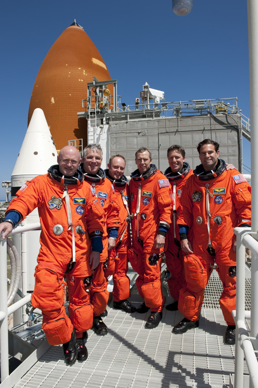 STS-134 Crew Countdown Rehearsal