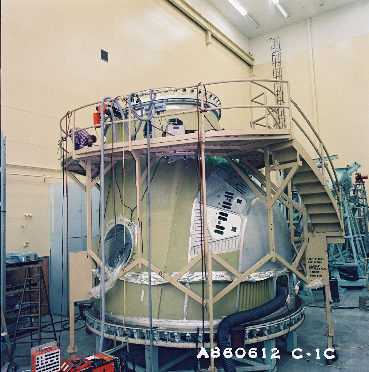 Endeavour's Crew Module During Early Construction