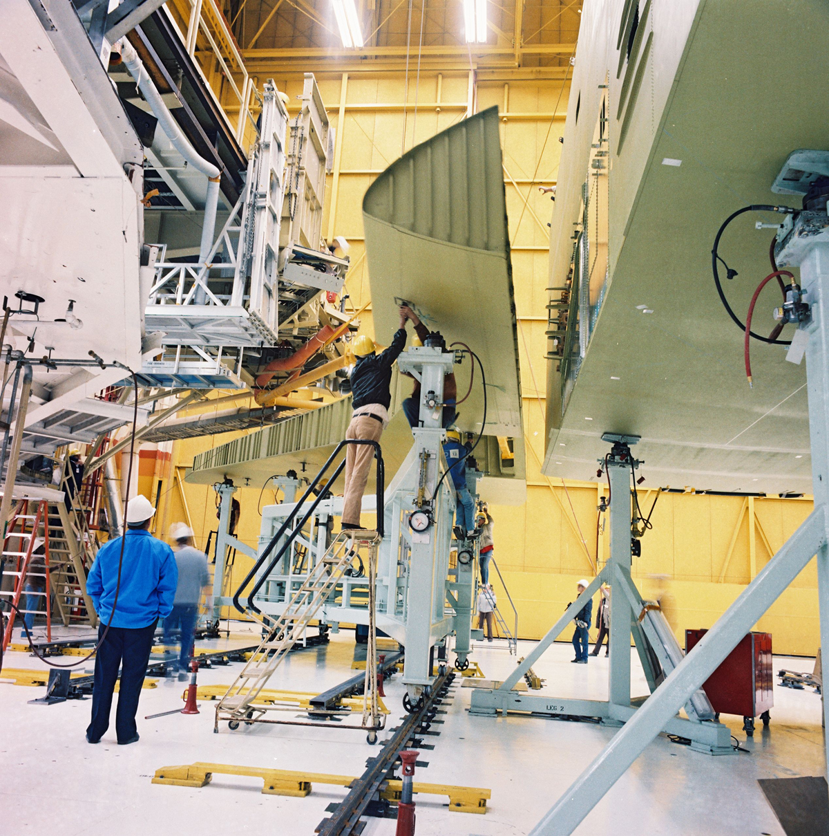 Endeavour's Right Wing Installation